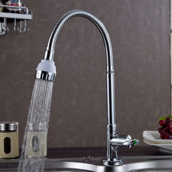 Modern Kitchen Design Cozinha Brass Kitchen Faucet Chrome Water Power  Swivel Kitchen Sink Cold Water Tap