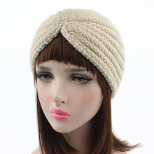 Musulmán sombrero de invierno cálida lana gorro Beanie dormir Chemo  turbante Headwear hecho a mano de ganchillo hecho punto acce. 2450096a2ee