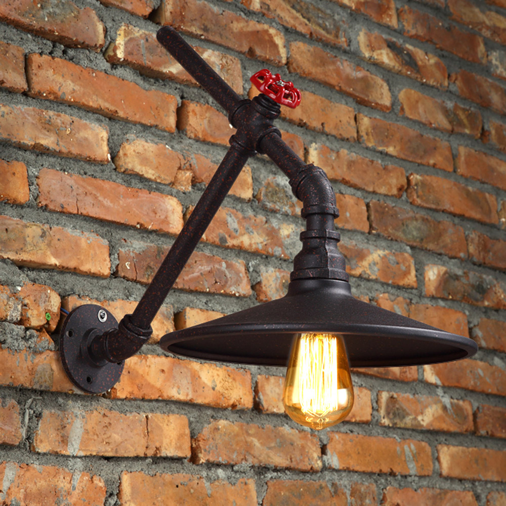 American Antique Metal Bar Counter Wall Lamp Stair Corridor Country Balcony Wall Lamp Industrial project Wall Lighting Fixtures