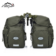 Bicycle Bag Mountain Road Saddle Cycling Bags MTB Rear Double Side Rack Tail Seat Pannier Pack Bike Accessories Rain Cover XA37D цена