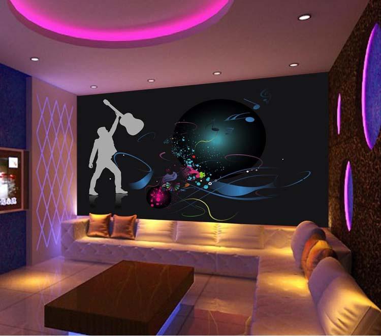 karaoke background hotel mural shipping ktv rooms wholesale