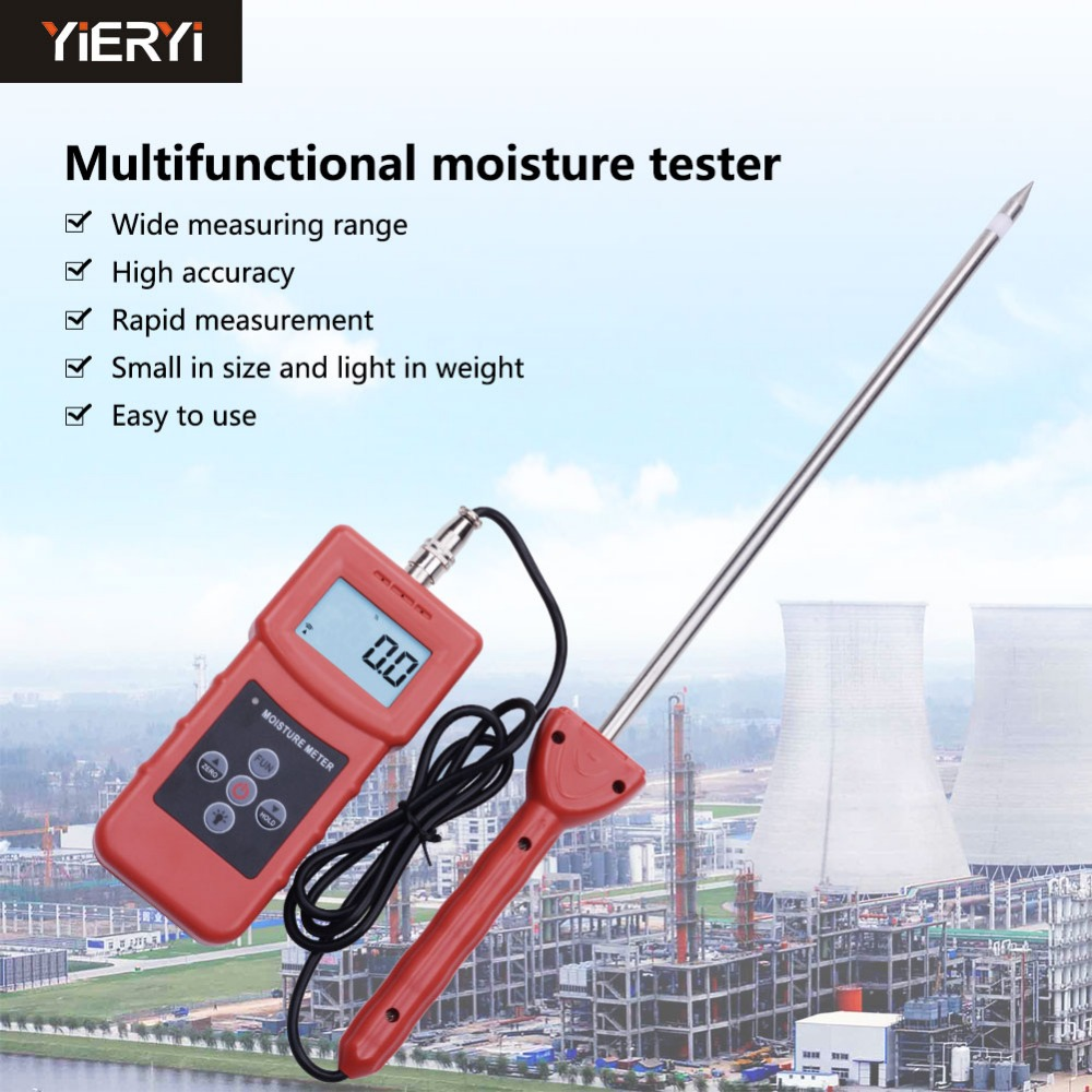 yieryi High Frequency MS350A Moisture Meter for Soil Silver Sand Chemical Combination Powder Coal Powder Chemical