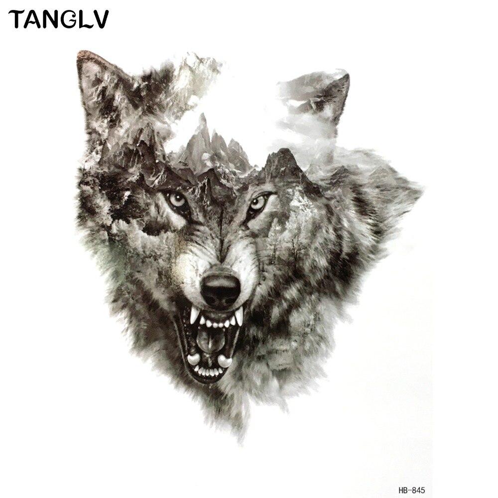 Tanglv Brand Waterproof Temporary Tattoo Stickers 3d Wild Horror