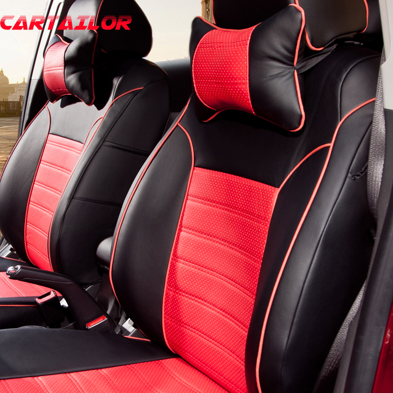 CARTAILOR Car Styling <font><b>Cover</b></font> <font><b>Seats</b></font> for <font><b>Toyota</b></font> Sienna <font><b>2007</b></font> 2011 <font><b>Seat</b></font> <font><b>Covers</b></font> & Supports Black PU Leather Car <font><b>Seat</b></font> <font><b>Cover</b></font> Set Airbags image
