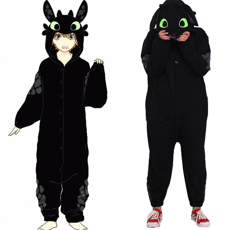 Anime How to Train Your Dragon Toothless Unisex Sleepwear Pajamas Jumpsuit Cosplay Costume
