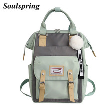 2019 Female High Quality Canvas Travel Backpack Women Mochil