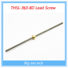 RepRap 3D Printer THSL-350-8D Lead Screw Dia 8MM Thread 8mm Length 350mm trapezoidal spindle screw with copper nut