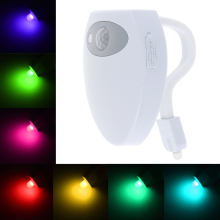 Smart USB Charge 8 Color PIR Motion Sensor Bathroom Toilet Nightlight Seat Lamp Body Activated with On / Off