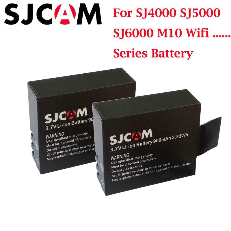 2PCS SJ4000 Battery Rechargeable 3 7V Li ion Batteries for SJCAM M10 SJ5000 Series Sport Camera fit EKEN 4K H8 H9 explorer in Digital Batteries from Consumer Electronics