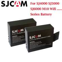 цена на 2PCS SJ4000 Battery  Rechargeable 3.7V Li-ion Batteries for SJCAM M10 SJ5000 Series  Sport Camera fit EKEN 4K H8 H9 explorer
