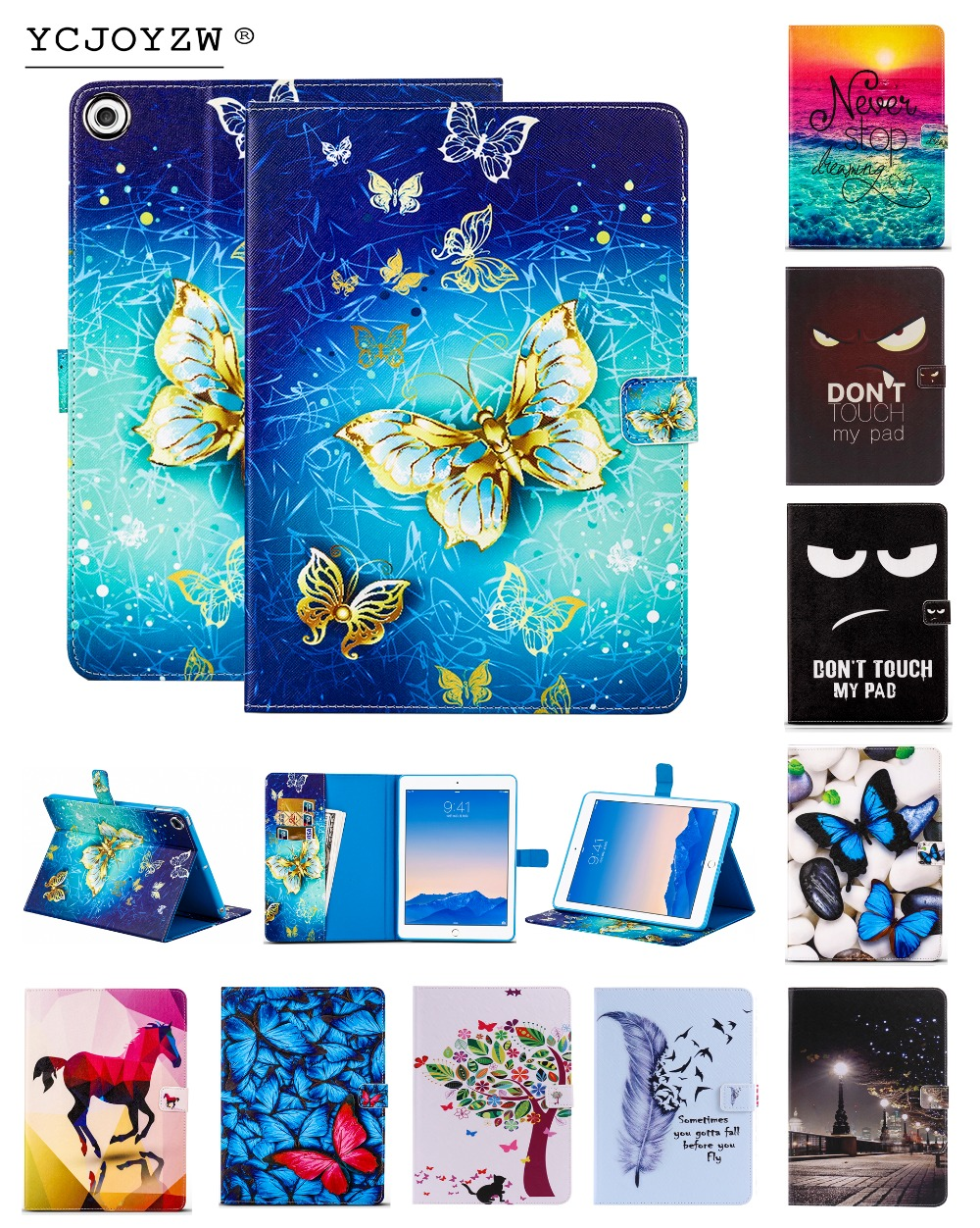 Card package cartoon Case for Apple New iPad 9.7 to 2017/2018 . PU leather cover+TPU soft Case-Smart sleep wake up case YCJOYZW case for apple 2017 2018 new ipad 9 7 inch ycjoyzw pu leather slim magnetic front smart cover skin hard pc back sleep wake up