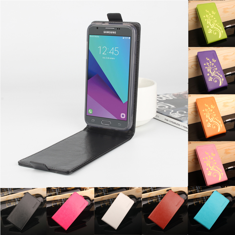 for Samsung Galaxy J3(US) J320 Cover Luxury Leather Case for Samsung Galaxy J3 2017 Flip Cover Case Magnetic Vertical Back Cover