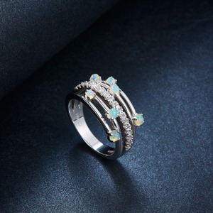 Image 3 - Hutang кольца с натуральным драгоценным камнем и опалом, серебро 925 пробы, обручальное кольцо , хорошее ювелирное изделие, элегантный дизайн для женщин, подарок, новое поступление