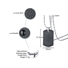Quantum Scalar Energy Bio Science Pendant Necklace for Men Dog Tag