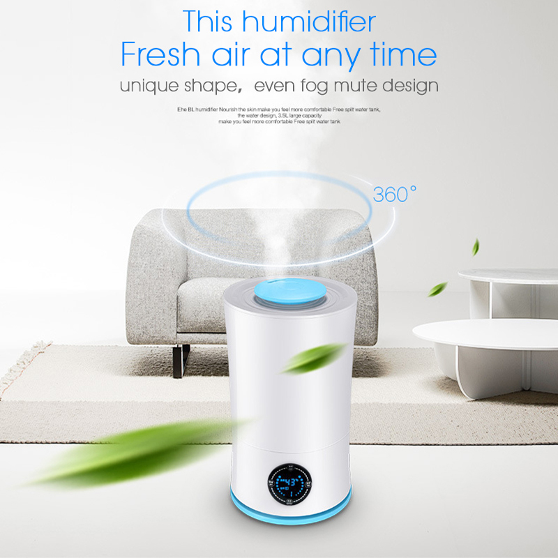 3L Ultrasonic Humidifier LED Light Adjustable Humidifier Diffuser Cool Mist EK