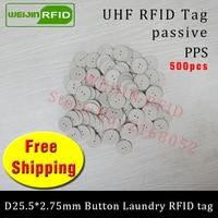 UHF RFID пуговица тег 915 мГц 868 мГц 860 960 мГц чужой H3 500 шт. Бесплатная доставка пассивные RFID PPS тепла и воды устойчивая бирка