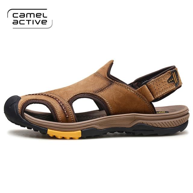 Mode Chaussures Cuir Camel Véritable Active Hommes En Été Sandales zMLqGSVpU