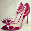 Dropshipping New Arrival European Pop Star Color-Matched Sexy Lady High Heel Pumps Elegant Woman Club Shoes Sexy Shoes R009