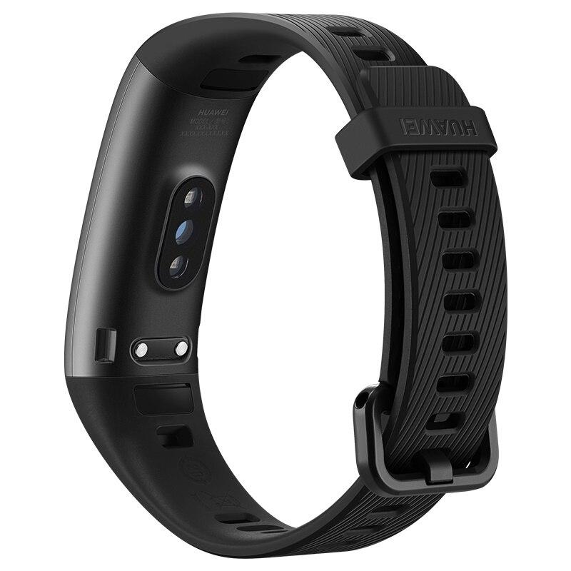 2019 nuevo original Huawei Band 3 Pro banda inteligente GPS marco de Metal Amoled Color pantalla táctil natación Sensor de ritmo cardíaco sueño rastreador - 6