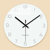 Mute Living Room Bedroom Minimalist Modern Decorative Wall Watch Quartz Round Clocks 12 Inch Wall Clock Nordic Household 5CL013
