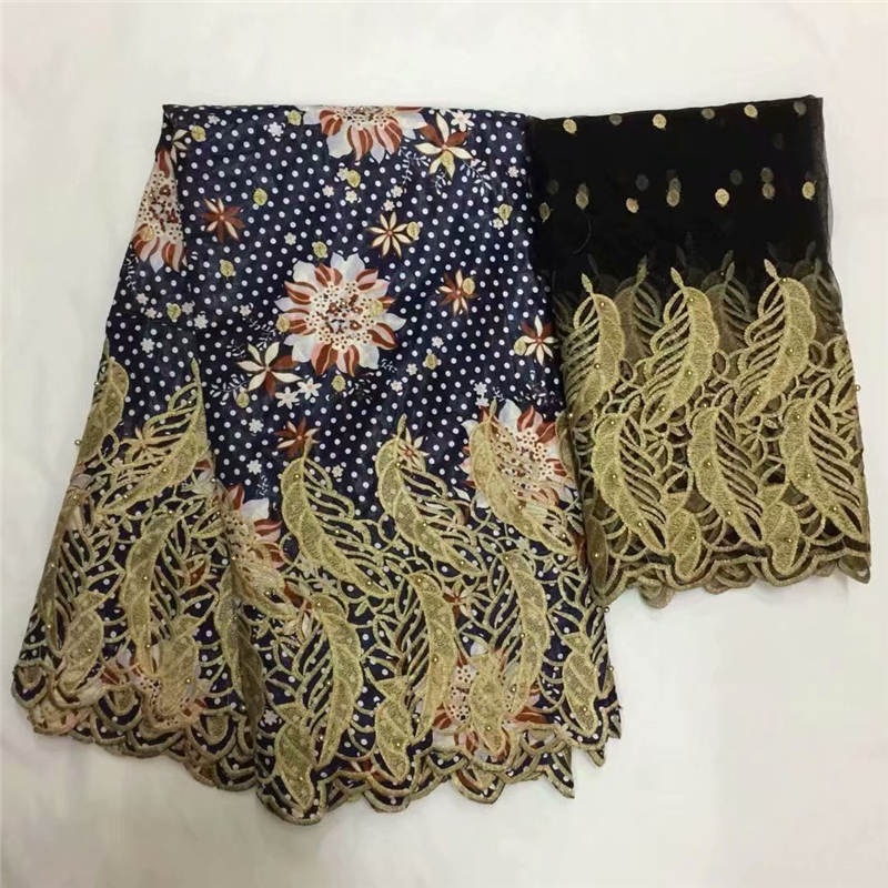 DF!African Lace Fabric Guinea Bazin Riche Fabric Set With 2 Yard French Net Lace For Blouse 2019 Latest Bazin Lace ! P31298DF!African Lace Fabric Guinea Bazin Riche Fabric Set With 2 Yard French Net Lace For Blouse 2019 Latest Bazin Lace ! P31298