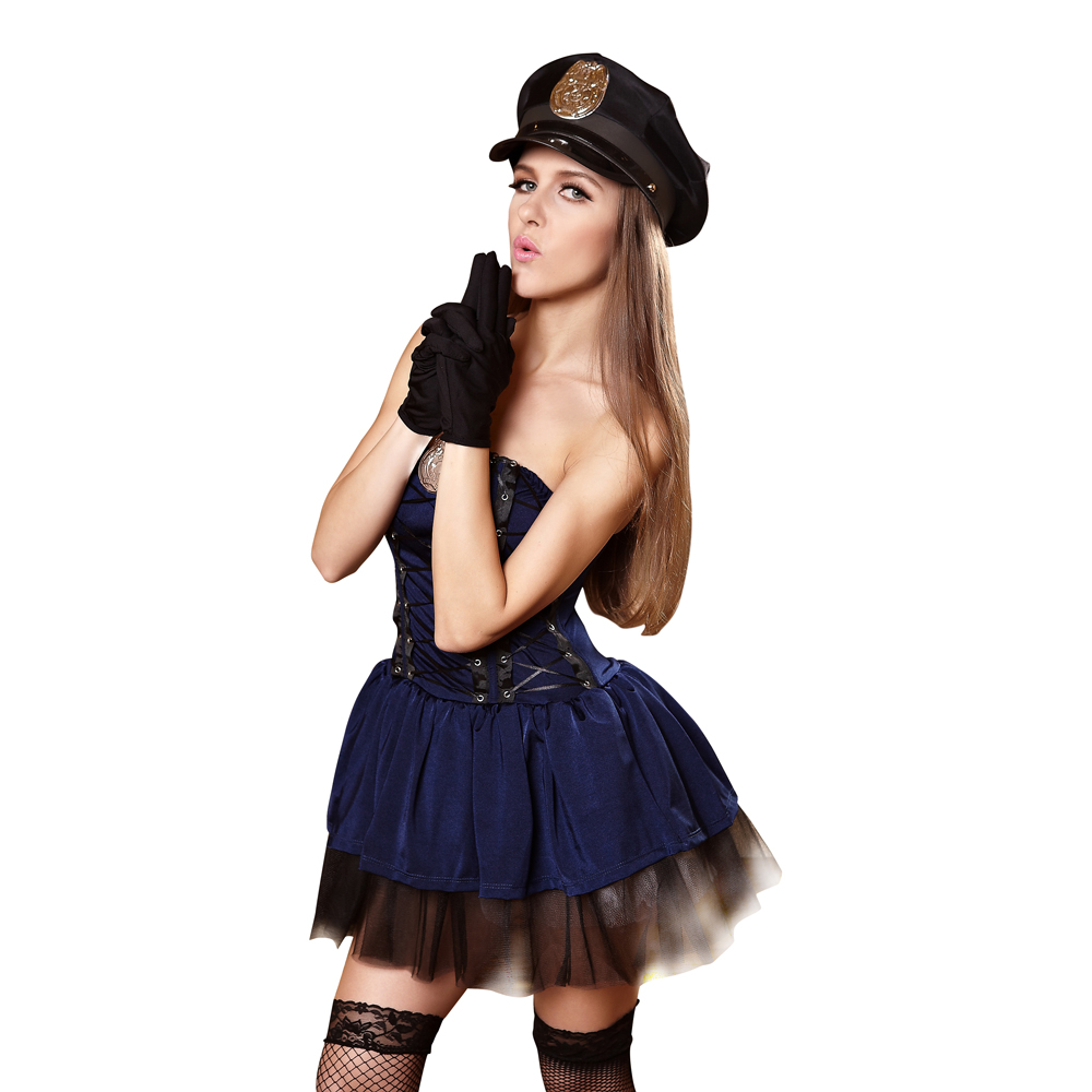 Clothing, Shoes & Accessories Halloween Women Police Cosplay Dress Costume Cop Uniform Sexy Schoolgirl Outfit Top Watermelons