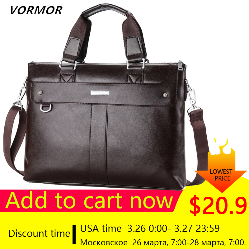 482757dbf8e0 VORMOR 2019 мужской повседневный портфель деловая сумка через плечо ...