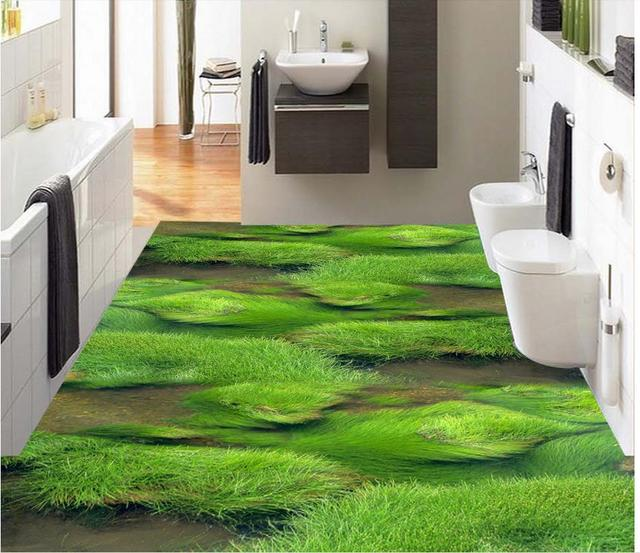 3d Flooring Grass Creek Streaming Stone 3d Bathroom