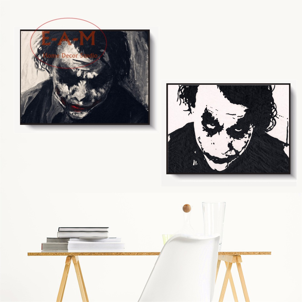 Poster Silhouette Nordic Muro Print Art Acquerello Canvas Joker Pittura dxXw4qZx5