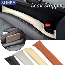 1PC PU LEATHER CAR SEAT GAP STOPPER STOP LEAK PROOF DROP LEAKPROOF PAD FILLER SPACER MAT CUSHION CENTER CONSOLE ARMREST STICKER