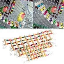 Птицы качели деревянный мост лестница подъем Cockatiel попугай волнистый попугай игрушка для домашних животных