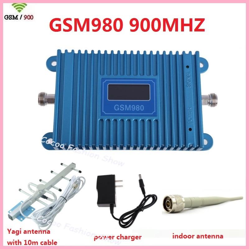 Écran LCD GSM 900 Mhz téléphone portable GSM980 amplificateur de Signal GSM amplificateur de répéteur de Signal GSM + antenne GSM Yagi