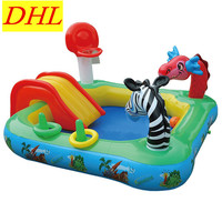 Large scale Inflatable Multifunction Swimming Pool Game Playground Slide Animal Outdoor Sunbathe Life Buoy Sea Party L1937