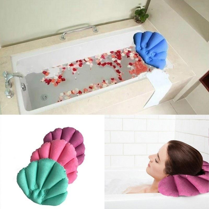 Inflatable Bath Pillows Home Bath Spa Pillow Rest Relaxing Back Neck ...