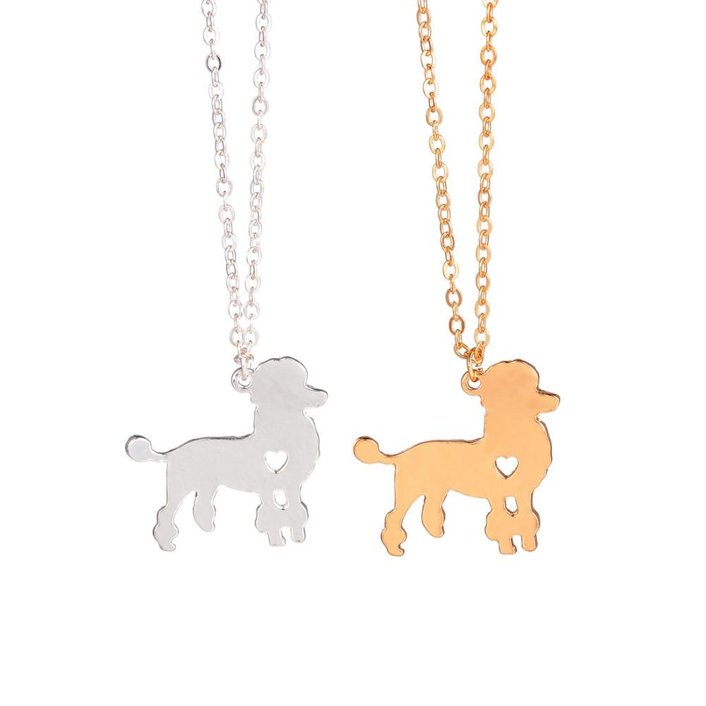 Arany ezüst 1db divatos uszkár nyaklánc Egyedi kutya nyaklánc kutya medál Pet Ékszerek Háziállatok Új kiskutya ápoló ajándékok kutya szerelmeseinek