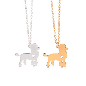 Gold Silver 1pc Fashionable Poodle Necklace Custom Dog Necklace Dog Pendant Pet Jewelry Pets New Puppy Groomer Gifts Dog lovers