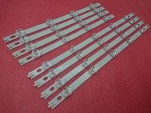 8 sztuk listwa oświetleniowa LED dla LG 39LN5700 39LN5757 39LA616V 39LA621V 39LA620S 39LN5400 39LN5300 39LN5100 39LN540V 39LN570V