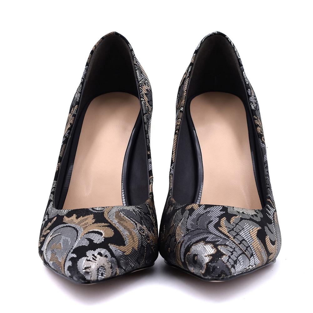 42 Tacones Caliente Mujer Partido Superficial Tamaño Otoño 34 Moda Delgado Zapatos Grande Negro Estrecha Venta Casual Punta Primavera Bombas Nuevo Sarairis YqIOF