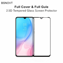 2pcs Full Cover& Glue Screen Protector For Xiaomi Mi CC9 Tempered Glass Cover CC9E  A3 Film