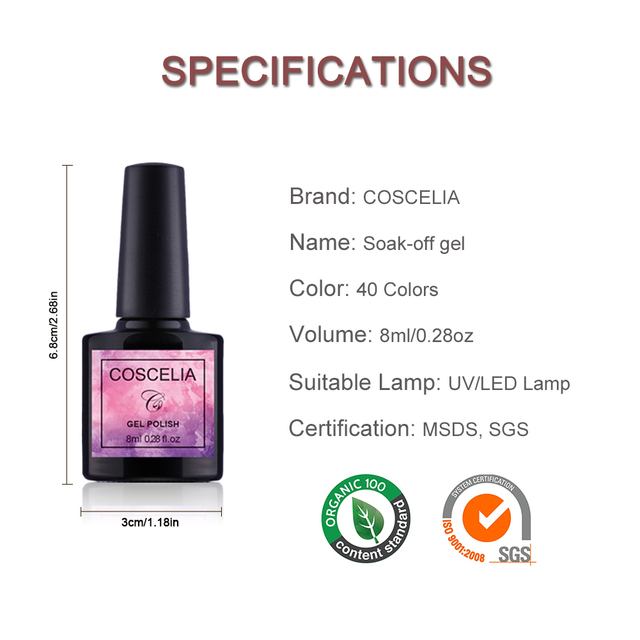 COSCELIA US Warehouse Clearance Nail Set UV LED Lamp Dryer Nail Gel Polish Kit Soak Off Manicure Tools Set For Nail Art Tools 5