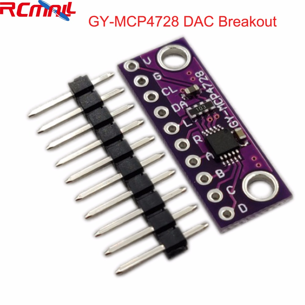MCP4728 12 Bit 12bits I2C Digital To Analog Converter DAC Breakoout Sensor Module GY-MCP4728 Low Power Consumption FZ3481