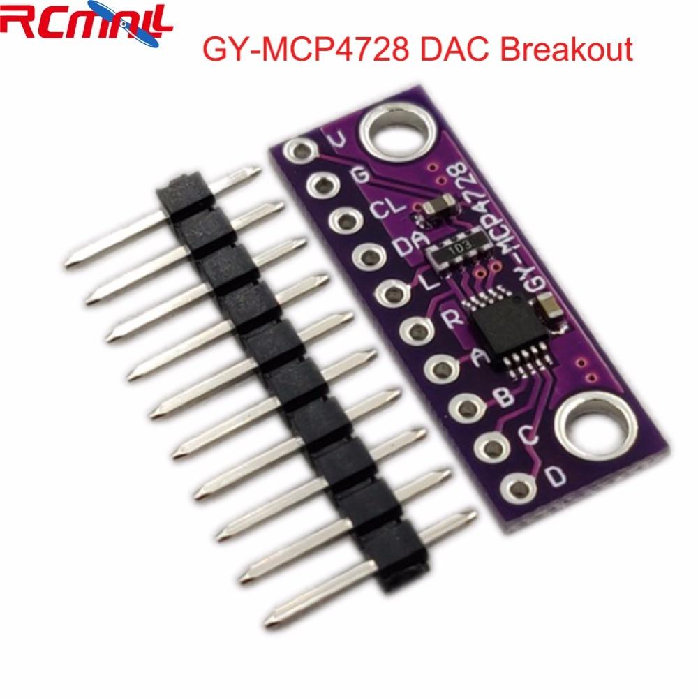 MCP4728 12 Bit 12bits I2C Digital To Analog Converter DAC Breakoout Sensor Module GY-MCP4728 Low Power Consumption FZ3481