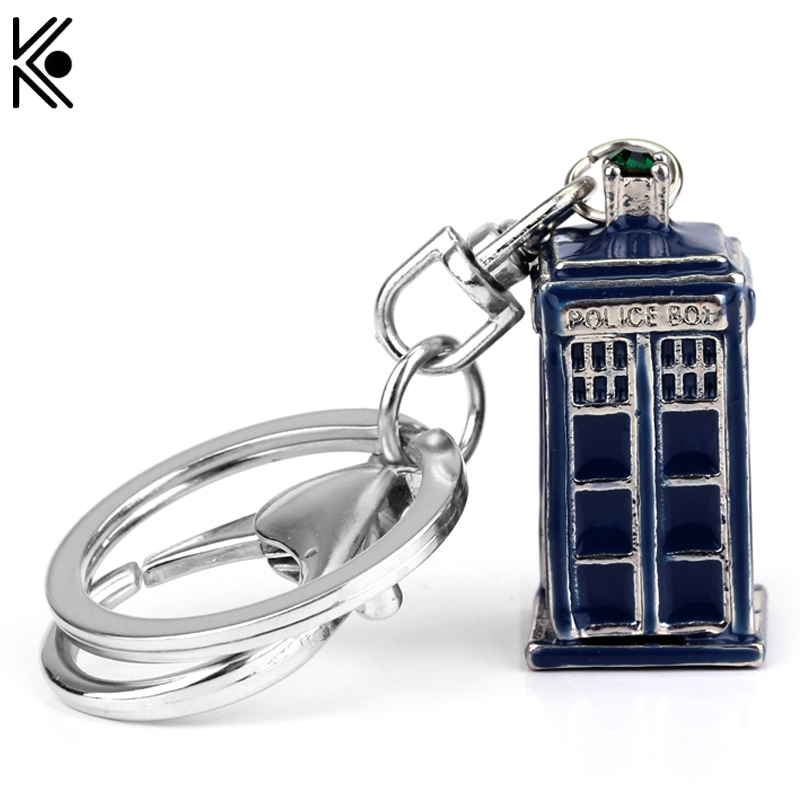 2016 New Arrive Free shipping Doctor Who Key Chains Silver plated jewelry brand for mens friendship best gift