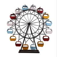 Ретро железная модель колесного обозрения ремесла украшения творческий дом гостиная магазин счетчик для настольного украшения