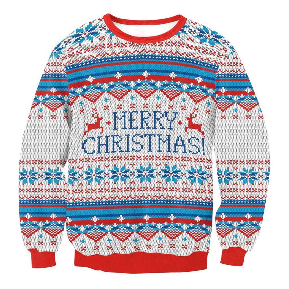 USPS Women Autumn Winter Printing O-Neck Blouse Men XMAS Christmas Sweater Vacation Santa Novelly Sweatshirt Blouse Yoga Shirts