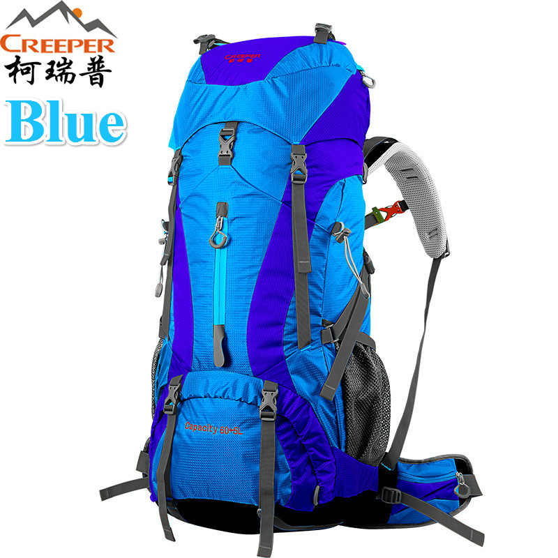 Creeper  Free Shipping 60+5L Professional Waterproof Rucksack Internal Frame Climbing Camping Hiking Backpack Mountaineering Bag free shipping professional waterproof rucksack internal frame climbing camping hiking backpack mountaineering bag 60l