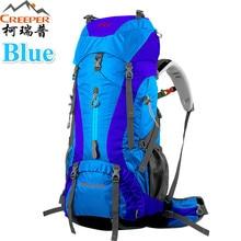 Creeper Бесплатная доставка 60 + 5L Профессиональный Водонепроницаемый рюкзак Внутренняя Рамки Восхождение Отдых Туризм рюкзак альпинизм сумка