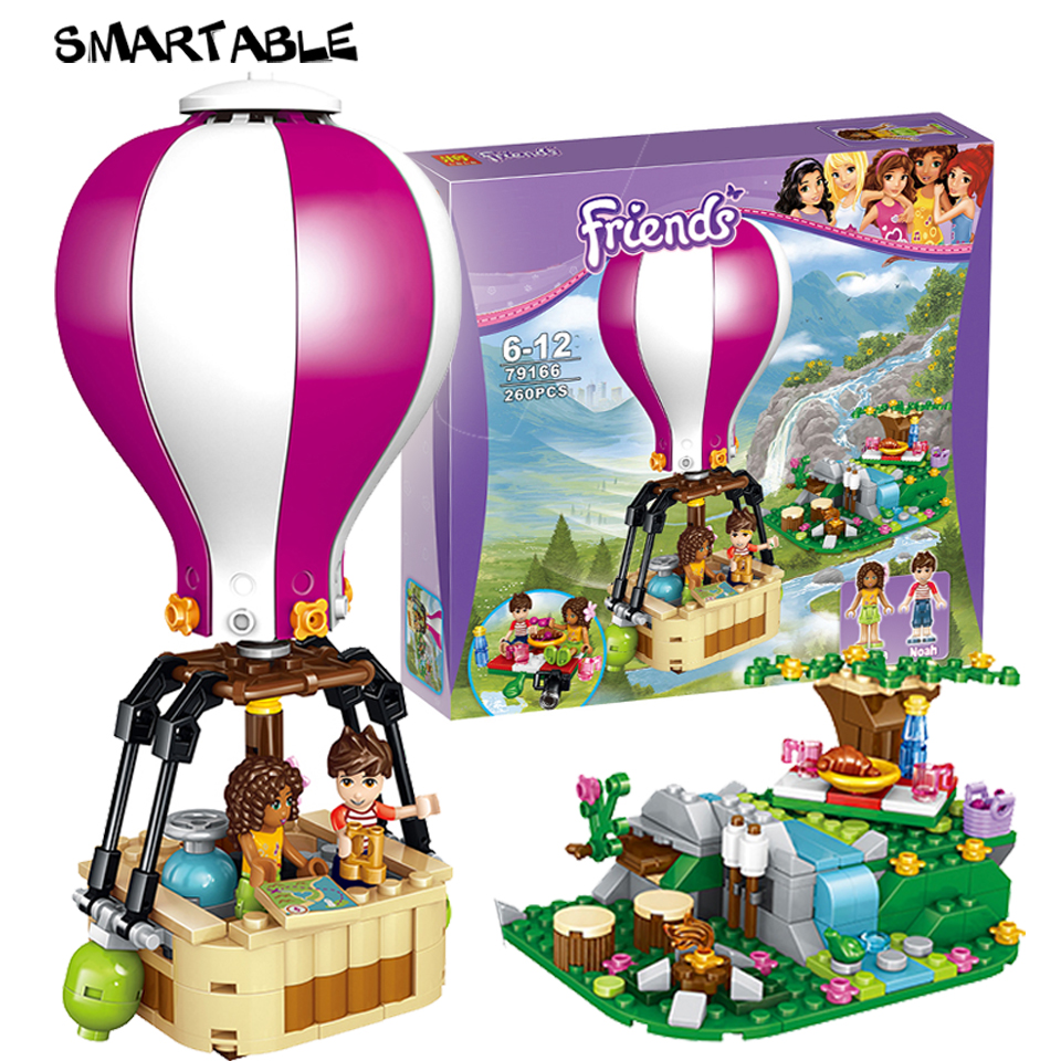 Blocks Legoing Friends Summer Holiday Fire Hot Air Balloon 415pcs Building Blocks Toys For Children Compatible With Legoings Friend Model Building