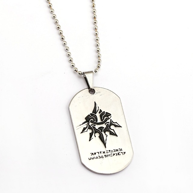 Nier automata necklace silver dog tag pendant fashion beads chain nier automata necklace silver dog tag pendant fashion beads chain necklaces women men charm gifts game aloadofball Images