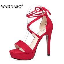 WADNASO Women 12.5CM Sexy Sandals Gladiator High Heels Summer Fashion Pop Toe Shoes Woman Eu Size 34-39